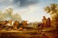 Picture Kavaleriiskaya Battle, oil, picture, Abraham van der Hoef