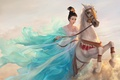 Picture Girl, Figure, Horse, Asian Princess, Art