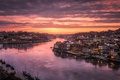 Picture river, the sky, Port, the evening, the city, Portugal, home, light, the Douro river