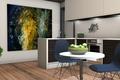 Picture interior, kitchen, rendering
