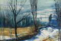 Picture landscape, picture, Jersey Woods, George Bellows, George Wesley Bellows