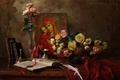 Picture flowers, roses, still life, icon