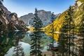 Picture autumn, trees, mountains, lake, Alps
