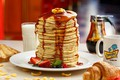 Picture pancakes, sauce, strawberry