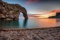 Picture sunset, England, coast, England, Durdle Door, sea