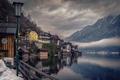 Picture mountains, lake, overcast, Austria, Austria, Hallstatt