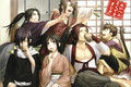 Picture emotions, stay, kimono, guys, friends, Demons pale cherry, Yukimura Chizuru, Okita Souji, Saitou Hajime, Hakuouki ...