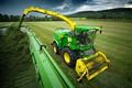 Picture tractor, grass, technique, field, John Deere 8400i