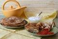Picture caviar, sour cream, pancakes