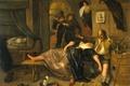 Picture Drunk Couple, oil, Ian Havickszoon Walls, genre, picture, tree