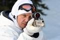 Picture Wind River, gun, weapon, Jeremy Renner, shotgun, man