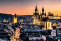 Picture lights, the evening, Prague, Czech Republic, Prague, Nove Mesto