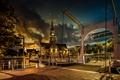 Picture night, Alkmaar, bridge, Netherlands, lights