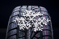 Picture macro, winter, wheel, blur, snowflake, bokeh, wheel, protector, bus, snowflake, wallpaper., car, tyre
