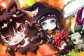 Picture Sousei no Onmyouji, exorcist, halloween, Benio Adashino, Rokuro Enmadou, Twin Star Exorcists, girl, boy, crossover, ...