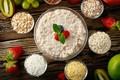 Picture Apple, strawberry, porridge, cereals
