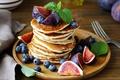 Picture blueberries, berries, pancakes, blueberries, plug, figs, fig, cakes, pancake
