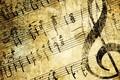Picture treble clef, texture, notes