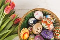 Picture Flowers, spring, Tulips, Easter, Eggs, Holiday