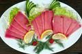 Picture fish, lemon, greens, salad