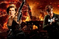 Picture fire, fiction, Milla Jovovich, Ruby Rose, action, Resident Evil: The Final Chapter, sparks, horror, Resident ...