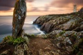 Picture sea, sunset, rocks, shore