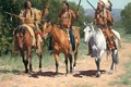 Picture western, horse, paintings, American indian, art