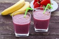 Picture strawberry, smoothies, banana