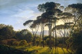 Picture Italian Landscape with Pine trees, Hendrik Voogd, trees, oil, canvas, picture