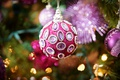 Picture background, new year, holiday, tree, toy, macro