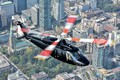 Picture the city, helicopter, blades, Sikorsky S-76D