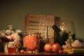Picture bow, grapes, garlic, tomato, tomato, still life, book, pistachios
