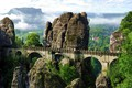 Picture Germany, ultra hd, hdr, multi monitors, panorama, bastei bridge, mountains the Elbe, Germany, The Bridge ...