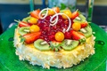 Picture strawberry, fruit, decoration, berries, dessert, kiwi, jelly, cake