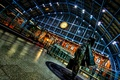 Picture St Pancras, London, England, station, watch, night, lights