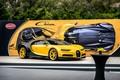 Picture bugatti, black, yellow, chiron