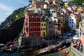 Picture Cinque Terre, home, Riomaggiore, Italy, The Ligurian coast, rock, sea