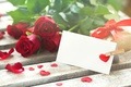 Picture gift, tape, hearts, red, valentine's day, roses, pomantic