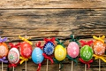 Picture colorful, wood, Easter, Easter, tape, happy, the painted eggs, holiday, spring, eggs