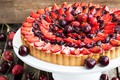 Picture berries, cakes, cherry, sweet, pie, strawberry