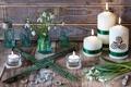 Picture snowdrops, bubbles, candles, bottle, style, flowers