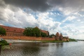 Picture Medieval, Architecture, Sky, Clouds, Poland, Poland, Clouds, The sky, River, River, Architecture