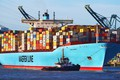 Picture Water, Board, Tank, Line, Port, Emma Maersk, Cargo, The ship, A container ship, Reflection, Emma, ...
