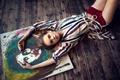 Picture Anastasia Shcheglova, legs, paint, brush, creativity