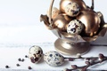 Picture quail eggs, spring, golden, branches, decoration, Verba, Easter, Easter, happy, the painted eggs, spring, eggs