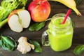 Picture apples, banana, ginger, smoothies