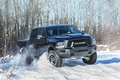 Picture winter, snow, speed, Dodge, car, winter, Ram 1500, Rebel Black Crew Cab