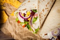 Picture bow, mexican, meat, tortillla, pita, pellet, vegetables, food