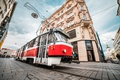 Picture Czech Republic, the city, Czech Republic, the building, tram, street