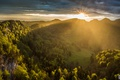 Picture valley, mountains, morning, sunrise